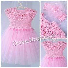 61 Ideas For Crochet Dress Girl Tuto Robe Baby Girl Crochet, Crochet Baby Clothes, Crochet For Kids, Crochet Yoke, Crochet Fabric, Crochet Tutu Dress, Tulle Dress, Little Girl Dresses, Girls Dresses