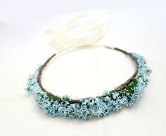 Blue Floral Crown, Wedding possible.