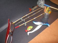 mini-cottages: Bamboo rod and reel 1:10, step by step tutorial lots photos