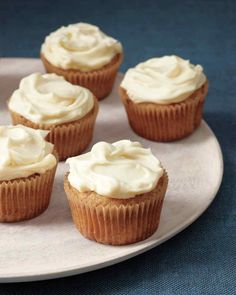 """Spiced Parsnip Cupcakes — """"These rich, moist cupcakes take everything you love about carrot cake to the next level, thanks to the sweet spiciness of parsnips and warm, fragrant cardamom"""" Croissants, Mini Cakes, Cupcake Cakes, Cup Cakes, Big Cupcake, Muffin Cupcake, Cupcake Heaven, Baby Cakes, Cupcake Recipes"""