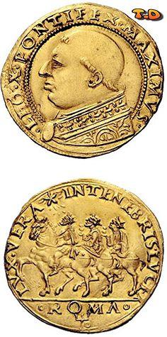 821da6c569 Leone X (Giovanni de'Medici), 1513 – 1521 Da 2 ducati papali e mezzo, AV…