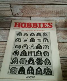 Hobbies the Magazine for Collectors November 1950 Old Trivets Vtg Advertising