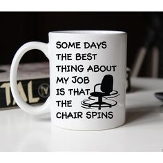 Funny Coworker Gift Coffee Mug the Best Thing About My Job Is the... ($15) ❤ liked on Polyvore featuring home, kitchen & dining, drinkware, drink & barware, grey, home & living, mugs, dishwasher safe mugs, grey mugs and grey coffee mugs