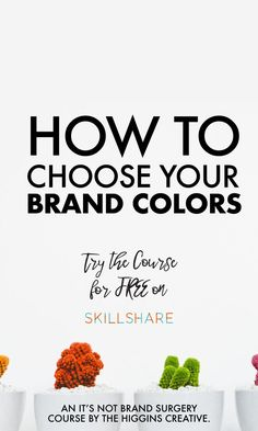 Introducing! Our newest mini course: Choosing Your Brand Colors  We walk you through how we help our clients choose their own color schemes -with purpose and intention- by tapping into their client's emotions.  Choosing your brand colors is an important step when you start a small business. It is integral to the branding process and is often the hardest decision you need to make.   Try this course for FREE on skillshare to choose your brand colors easily.