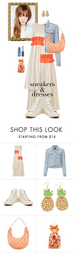 """Sporty Chic: Sneakers and Dresses"" by flippintickledinc ❤ liked on Polyvore featuring Paskal, J Brand, Converse, See by Chloé, Salvatore Ferragamo and SNEAKERSANDDRESSES"