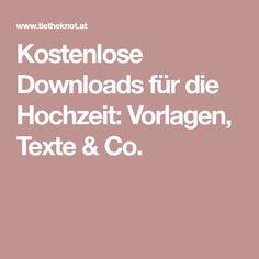 Kostenlose Downloads für die Hochzeit: Vorlagen, Texte & Co.