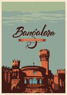 Travel Postcards Posters of Karntaka India Travel Postcards & Posters of Karntaka India, Ranganath Krishnamani Indian Illustration, City Illustration, India Travel, Travel Usa, India Trip, Travel Tips, India Poster, London Poster, Bangalore City