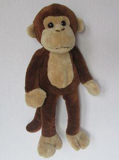 "17"" Brown Monkey Plush Stuffed Animal Toy Floppy Legs Bean Bag Beanbag Lovey #Unknown"