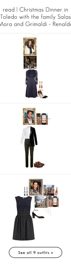 """""""read   Christmas Dinner in Toledo with the family Salas Mora and Grimaldi - Renaldo"""" by xeniarenaldo ❤ liked on Polyvore featuring Burberry, Gianvito Rossi, Diego Percossi Papi, Dolce&Gabbana, Yves Saint Laurent, George Cleverley, men's fashion, menswear, Brunello Cucinelli and Valentino"""