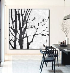 Large Abstract Painting Canvas Art Landscape von CelineZiangArt