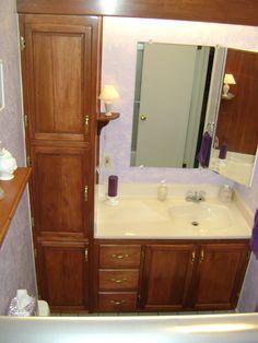 Bathroom Vanities and Linen Cabinets | BathroomVanity with Linen Cabinet: