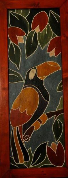 Questo quadro il legno è realizzato con la tecnica dell' incisione Pintura