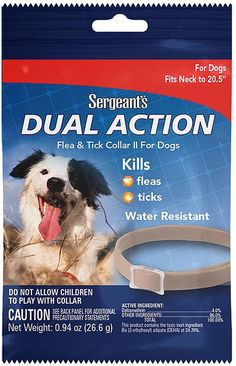 Sergeant's Pet Products 3284 1 Count Sergeants Dual Action Flea and Tick Collar for Dogs, 20.5' -- Check out the image by visiting the link. (This is an affiliate link and I receive a commission for the sales)