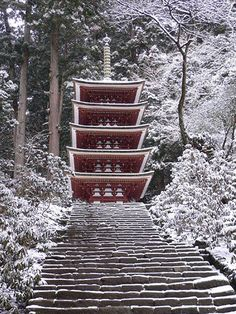 Murō-ji Temple, Uda, Nara, Japan - the small temple stands out against the nature in the background, which brings a certain interest to why it may be in this location. It seems like a calming location where you could sit and reflect on whatever it is you may be worshipping.