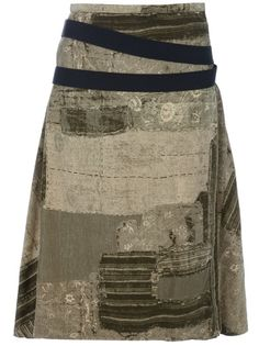 focus-damnit:  (via Jean Paul Gaultier Vintage Printed Skirt - House Of Liza - farfetch.com)
