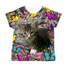 Emma in Butterflies I Women's All Over Print T-Shirt by DianeClancy at CafePress by Diane Clancy's Art