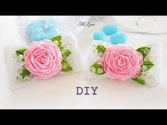 БАНТИКИ С РОЗАМИ, МК / DIY Ribbon roses & bows - YouTube