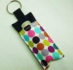 Chapstick Holder Lip Balm key chain chapstick by thameowdesigns