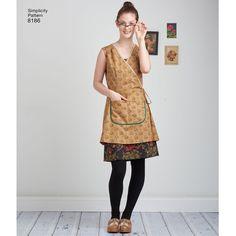 Simplicity 8186 Misses Dottie Angel Frock  Wrap  SewingFabricCollection  Kittelkleid 785f93160