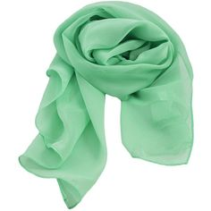 Mint Green Chiffon Scarf ❤ liked on Polyvore featuring accessories, scarves, lightweight scarves, mint green scarves, chiffon shawl, formal shawl and mint scarves