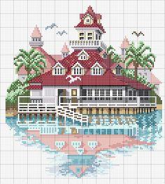 Schema punto croce Casa giapponese