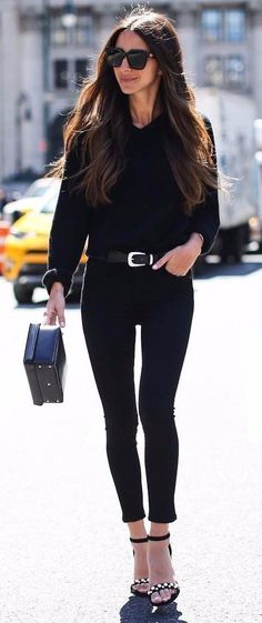 all black everything  | For more style inspiration visit 40plusstyle.com