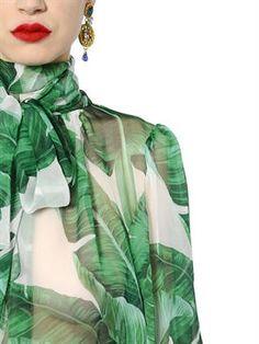 dolce & gabbana - donna - camicie - camicia in chiffon di seta