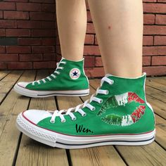 Italy Flag Design Converse Chuck Taylor Hand Painted Shoes High Top Sneakers 82e9991ef4