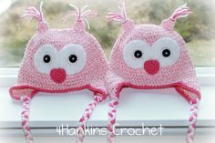 LOVE Owl Hat PATTERN. $3.99, via Etsy. Cute for Valentine's Day!