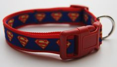 "Superman 1"" Dog Collar. $15.00. Find Bonzai Gifts on Facebook for more!"