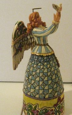 "Jim Shore Heartwood Creek ""Peace"" Angel with Dove mini figurine NEW 2006 4005272"