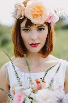 2014 Wedding Trends | Floral Crowns | Over-sized Floral Crown