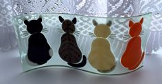 Fused glass - cats