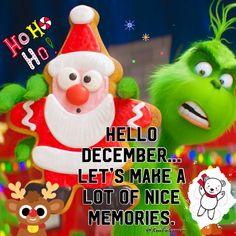 Hello December Hello December Hello December Dalila Luks - Cartoon Videos Kids For 2019 Merry Christmas Funny, Christmas Images, Christmas Greetings, Christmas Cards, Hello December Quotes, Happy December, December Pictures, Mr Grinch, Baby Cartoon