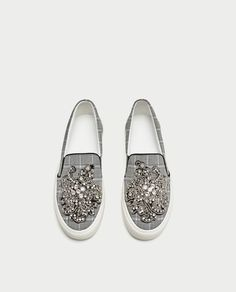 BEADED FABRIC SNEAKERS-View all-SHOES-WOMAN | ZARA United States