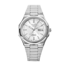 Seiko Men's SNKK41 5 Stainless Steel Siver Dial Watch Seiko. $69.99. Automatic movement. Scratch-resistant hardlex crystal. Water resistant. Silver dial; Luminescent hands. Stainless steel case and bracelet. Save 62% Off!