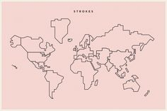 World Map Simple Vector by TheSleepingSky on @creativemarket