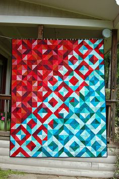 Lava Meets Sea Quilt by Sarah Cooper. Her post has some great tips on how to achieve this beautiful color transition/
