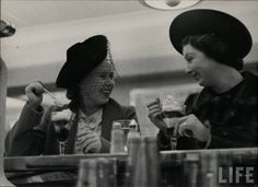 Friends eating ice cream at a lunch counter