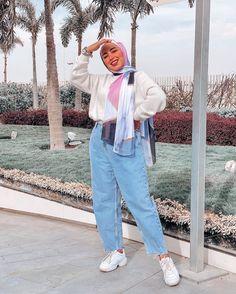 Hijab Fashion Summer, Modest Fashion Hijab, Modern Hijab Fashion, Street Hijab Fashion, Hijab Fashion Inspiration, Muslim Fashion, Retro Outfits, Trendy Outfits, Teenage Outfits