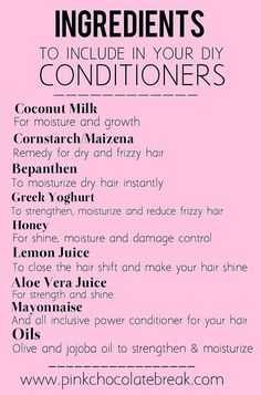 Ingredients to include in diy deep conditioners natural hair 11 by jocelinapaixaofortes, via Flickr