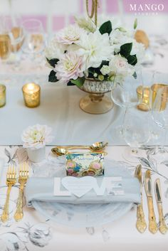 LOVE #wedding #reception #decor #photography #flowers #tablesetting #plate #love #mangostudios photography by Mango Studios
