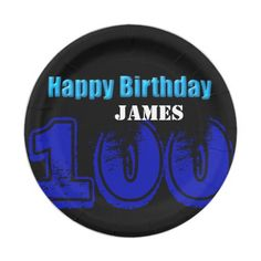 Happy 100th Birthday Personalized Paper Plates  sc 1 st  Pinterest & Football Paper Plates 60th Birthday Party Paper Plate | Birthdays