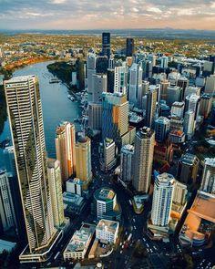 "Visit Brisbane on Instagram: ""We love an aerial shot of our shining city☀️📷 @storeytimes #thisisbrisbane"" Brisbane City, New York Skyline, Skyscraper, Shots, Travel, Instagram, Skyscrapers, Viajes, Destinations"