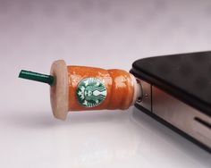 Starbucks Latte Pluggy by Funwithartz on Etsy, $8.90