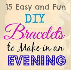 15 gemakkelijk en leuk DIY Armbanden te maken in een avond | Crafts a la mode