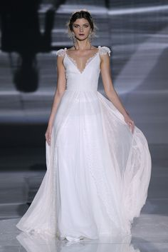 Take a second to look at the Jesús Peiró collection from @BCNbridalweek because you will fall in love with each and every dress! http://www.stylemepretty.com/2017/04/27/jesus-peiro-barcelona-bridal-fashion-week-2017-2/ #sponsored