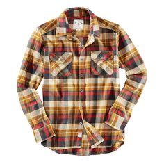 Iron & Resin Redwood Herren Hemd Senf Gelb Beige Rot Blau | Bad&Bold