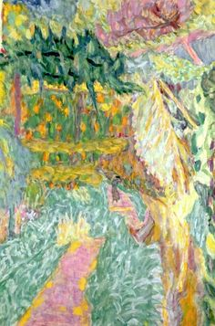 Le Jardin au Cannet. Pierre Bonnard, French painter and printmaker, member of the group of artists called the Nabis and afterward a leader of the Intimists; he is generally regarded as one of the greatest colorists.