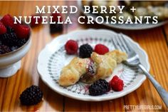 Berry and Nutella Croissants using frozen puff pastry . . . yes please!